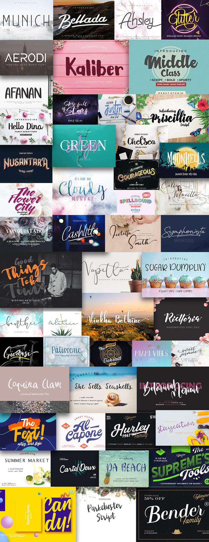 Pixelo's classy fonts bundle - 51 amazing typefaces
