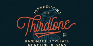 Thirdlone Font Duo plus Bonus Vector Illustrations.