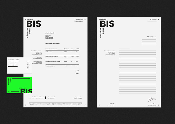 Letterheads and business cards.