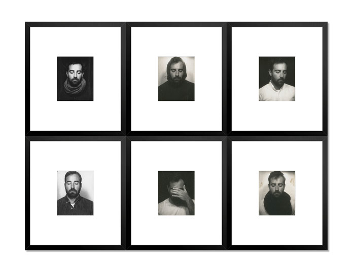 Rafael Soldi, portraits on display at ClampArt gallery in New York City.