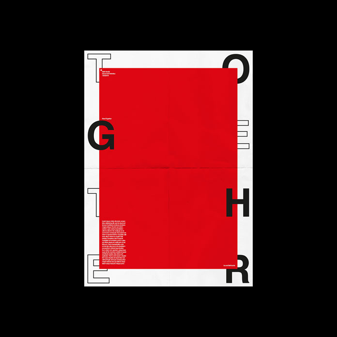 Typographic posters inspired by Swiss design.