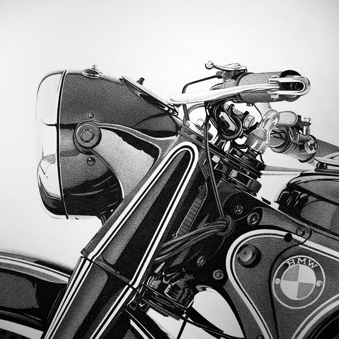 Close up of the bike.