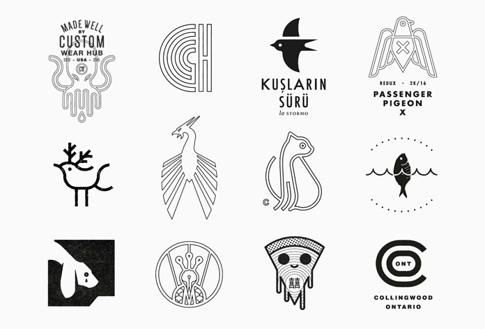 Stunning logos based on simple graphic shapes.