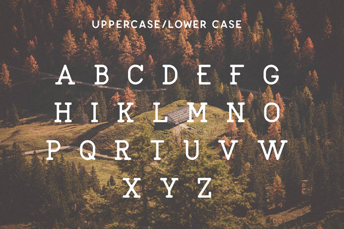 Uppercase characters.