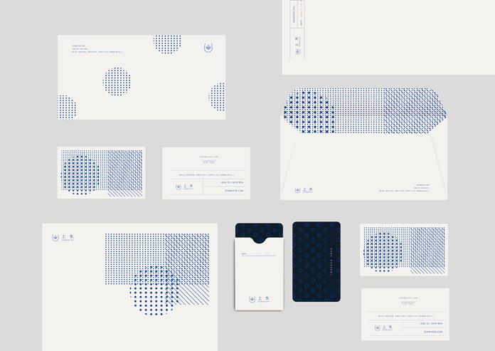ZENWATER branding materials.