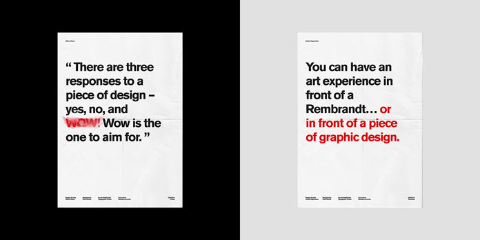 Typographic poster designs.