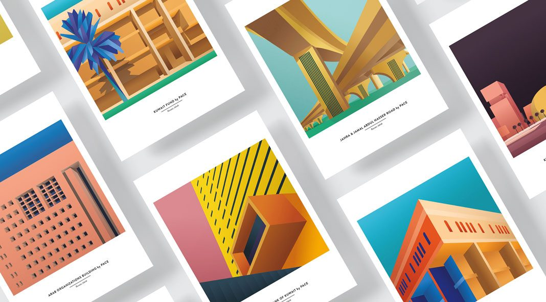 Architectural illustrations by Renata Jakab for PACE Architecture