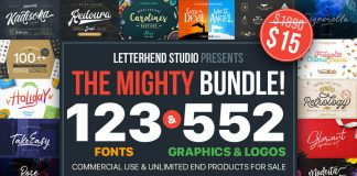 Letterhend Studio font bundle available on MightyDeals.