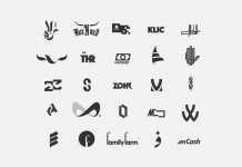 Logo designs from 2018 by M. Rasoulipour.