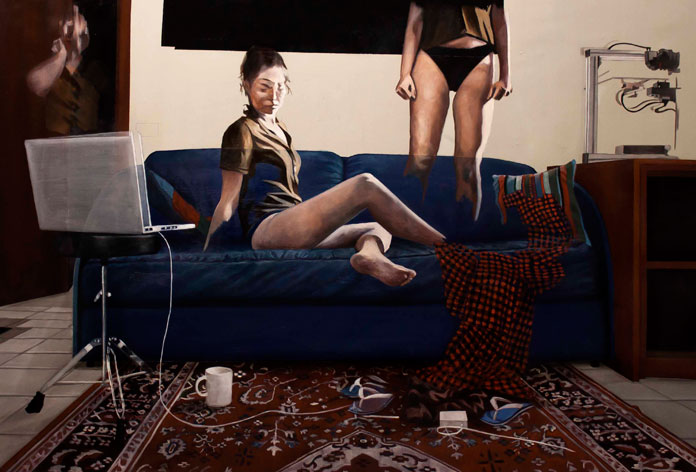 Reification #12, 2015, oil on canvas, 80 x 120 cm