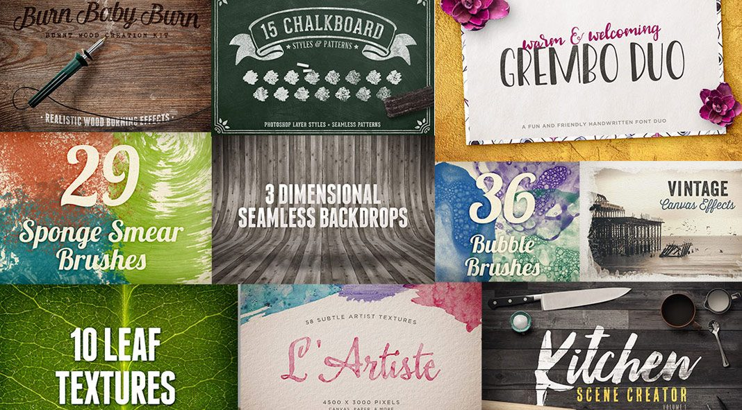 The Design Panoply Bundle: 1199 High-Quality Fonts and Design Elements.