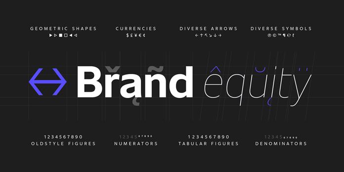 Unitext, typographic features
