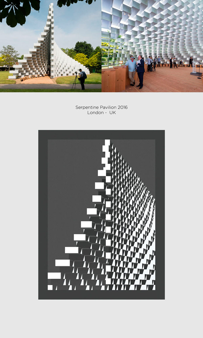 Serpentine Pavilion Bjarke Ingles Group Poster