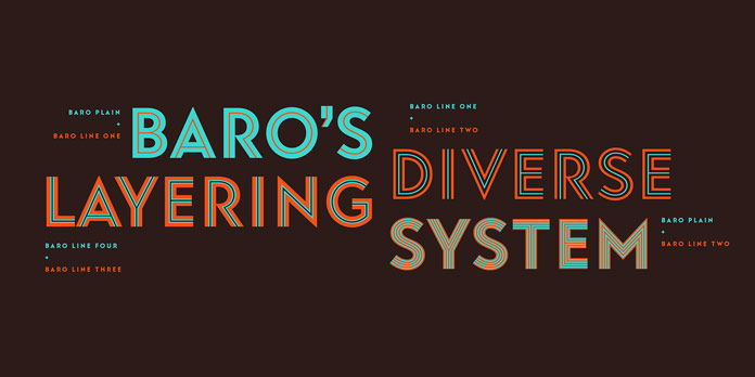 Baro font family from Indian Type Foundry.