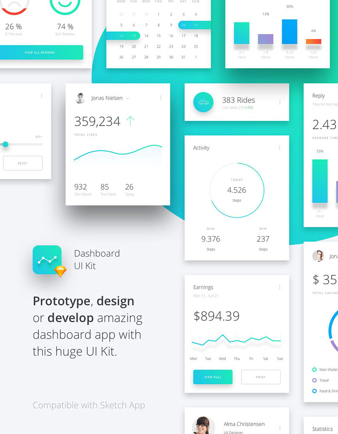 Data Dashboard UI Kit