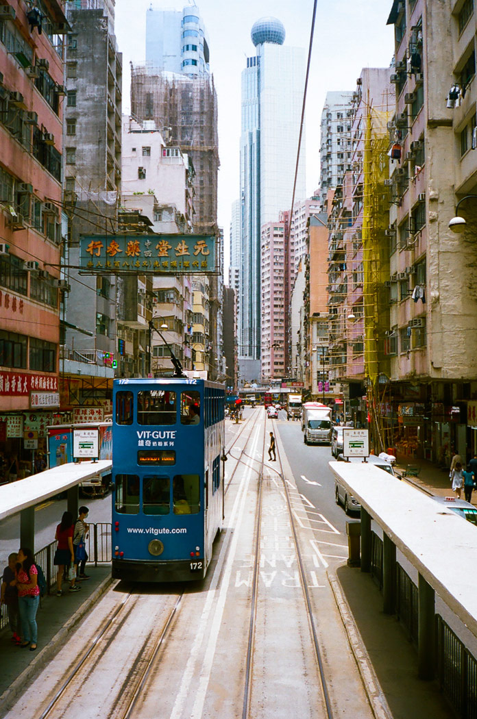 Hong Kong's street life captured on film by photographer Douce d'Ivry.