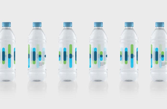Packaging design for water bottles.