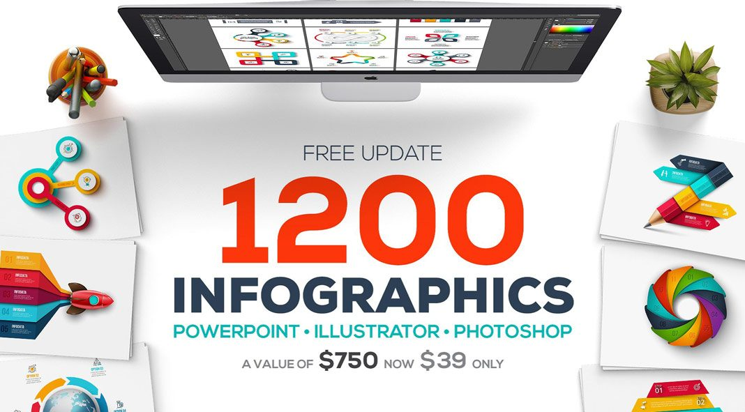 1200 Infographics Templates in one big bundle