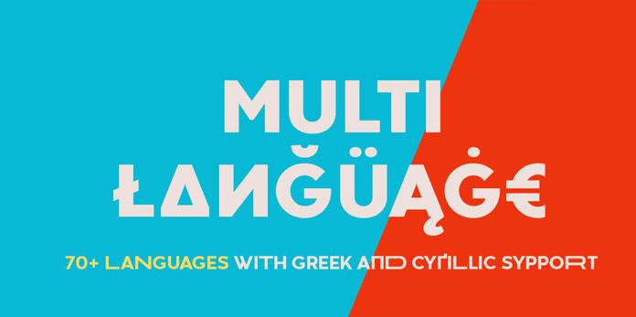 Multi-language support.