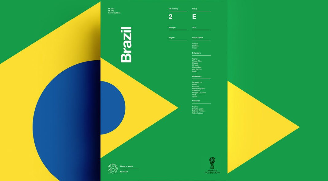 2018 FIFA World Cup Russia - self-initiated poster collection by Studio–JQ