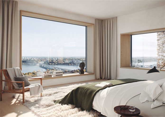 First images from the inside of Herzog & de Meuron's and Oscar Properties gasholder in Stockholm.
