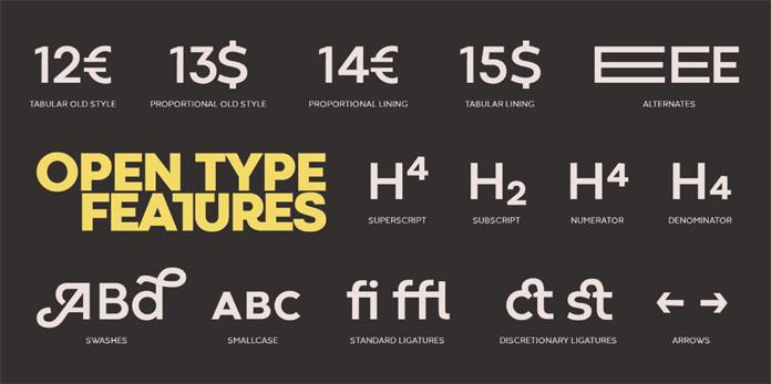 Open type features.