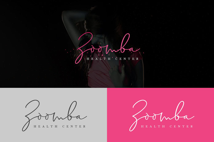 Delliathin signature font, branding.