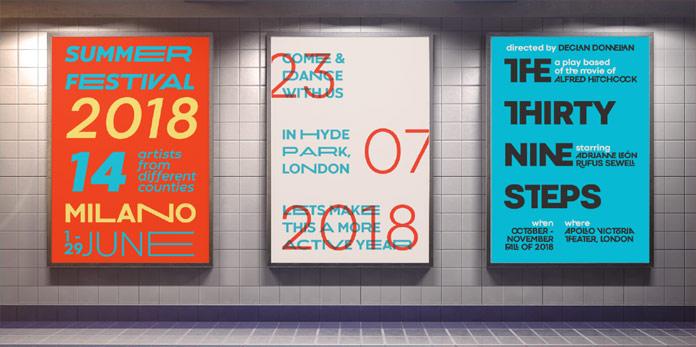 Great for modern poster design.