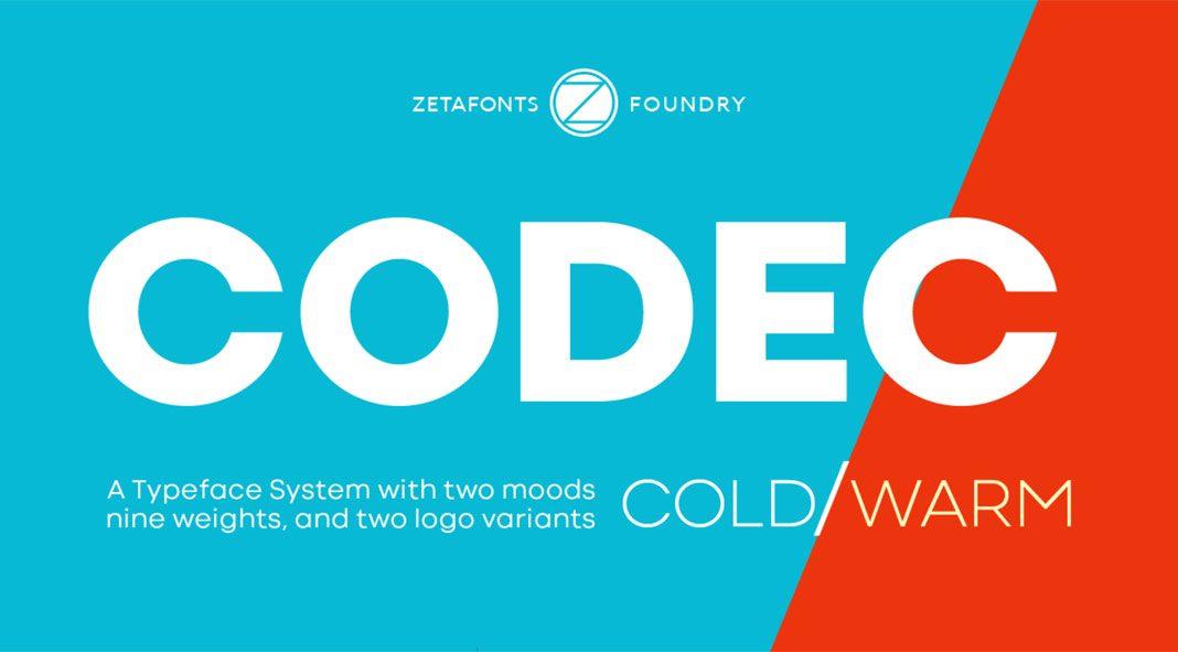 Codec font family from Zetafonts.