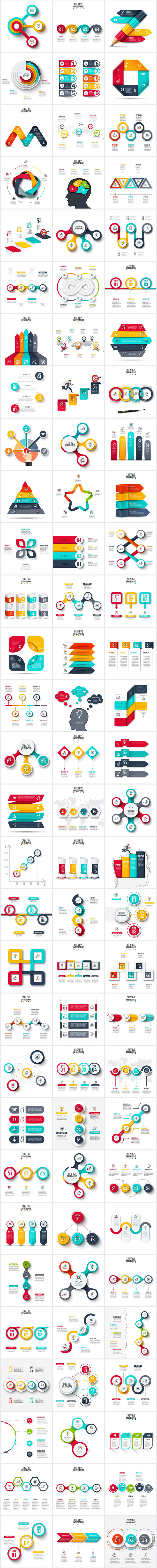Creative infographic templates for Adobe Illustrator and Photoshop