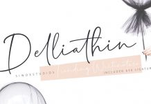 Delliathin signature font from Siwox Studios.