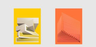 Syntax in architecture - poster designs by Giuseppe Gallo based on nine projects of Bjarke Ingels Group (BIG)