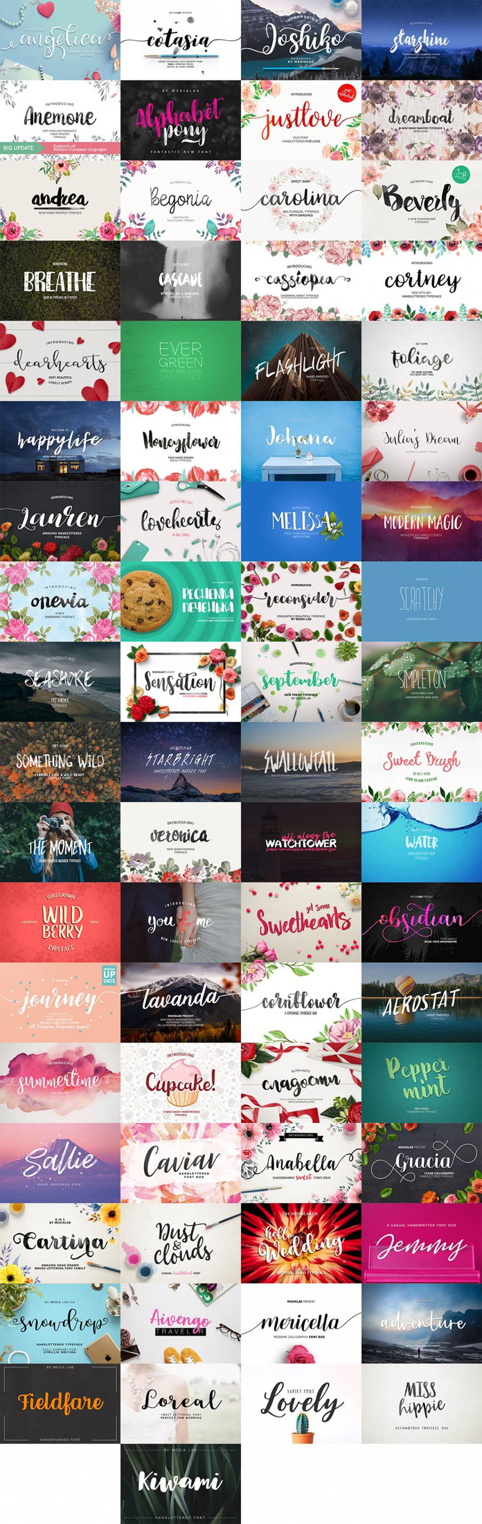 109 premium fonts with extended license available on Mighty Deals
