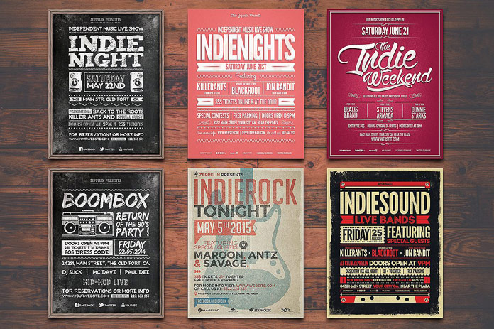 Music flyer templates.