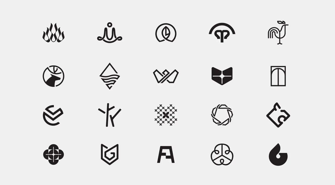 60 logotypes and marks by branding agency Bratus