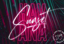 Havana Sunset Font Duo plus SVG files.