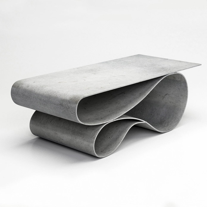 Concrete Canvas table by Neal Aronowitz.