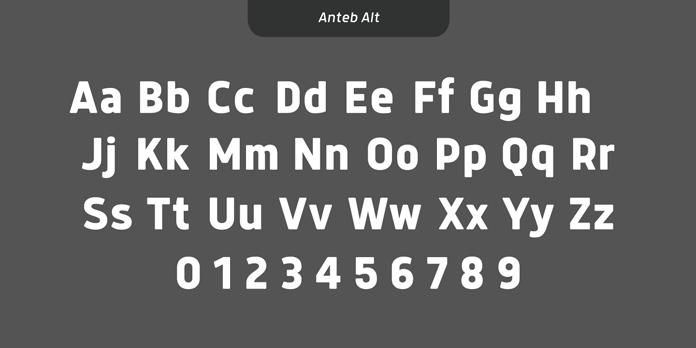 Anteb font family - Alternative character set