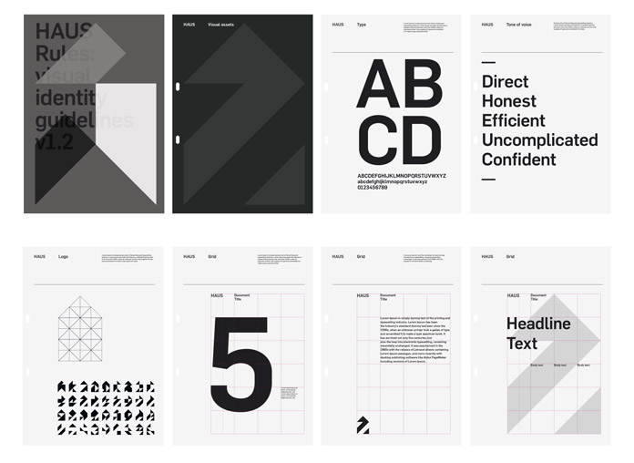 Bauhaus inspired branding guidelines.