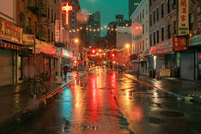 Nocturnal city walk.