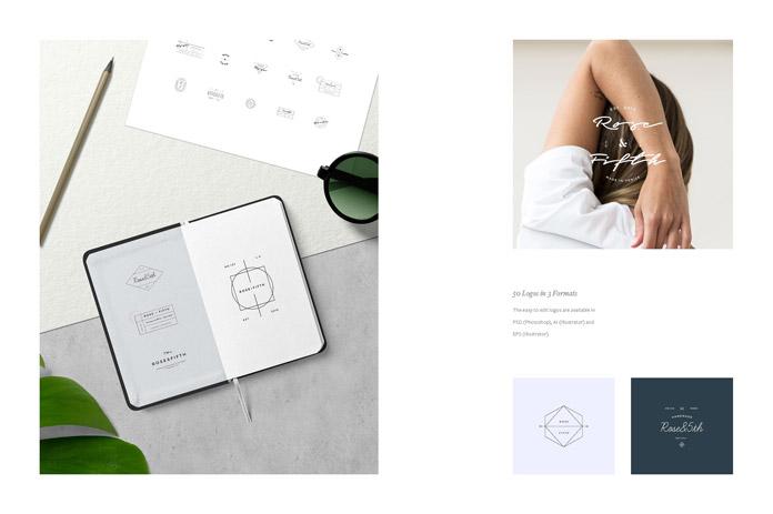 Modern, minimalist designs.