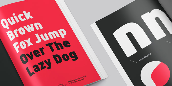 Anteb font family - Modern display typeface