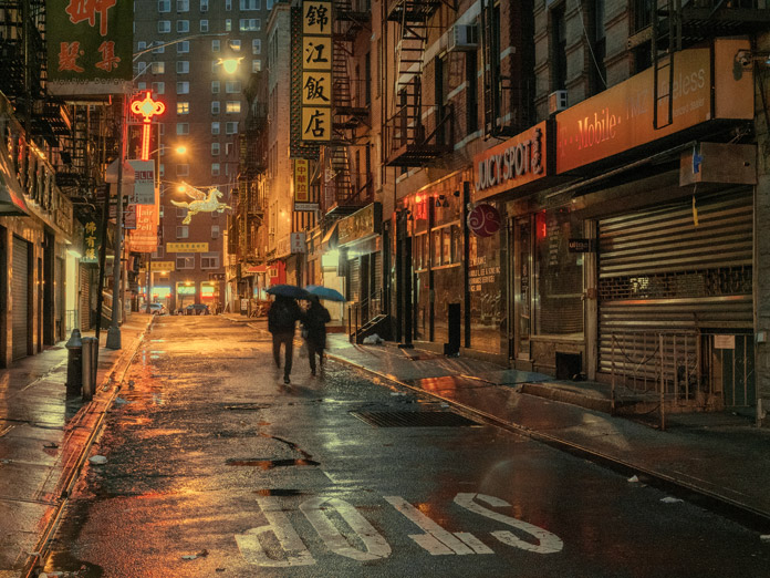 A walk at night through Chinatown.