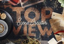 Coffee Top View Scene Creator