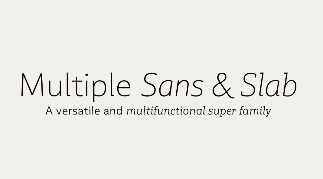 Multiple font family from Latinotype