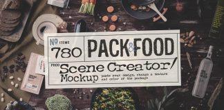 Packaging and food mockups created by Aleksey Belorukov.