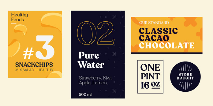Recoleta font family - examples of use.