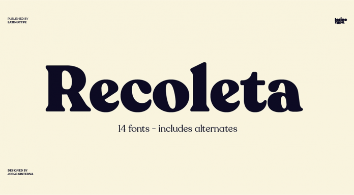 Recoleta font family from Latinotype