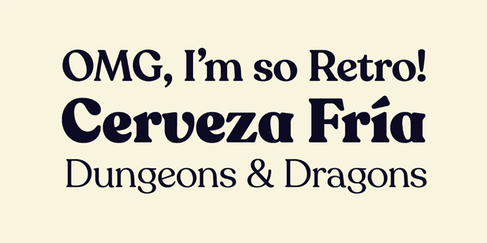 Recoleta font family - text samples.
