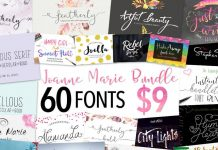 60 fonts bundle from Mighty Deals